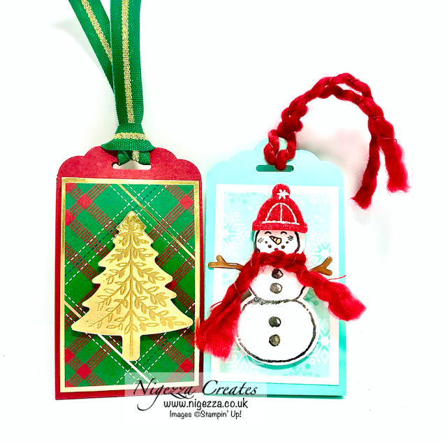 Nigezza Creates with Stampin' Up! Perfectly Plaid & Wrapped in Plaid