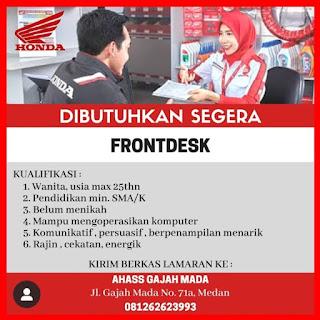 Front Desk di Ahass Gajah Mada