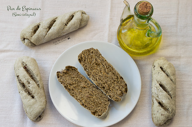 Spinach Bread Semi-Integral / Eva en Pruebas