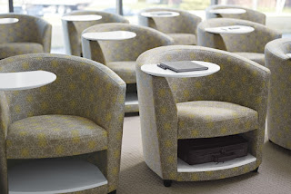 Tablet Arm Reception Chairs at OfficeAnything.com