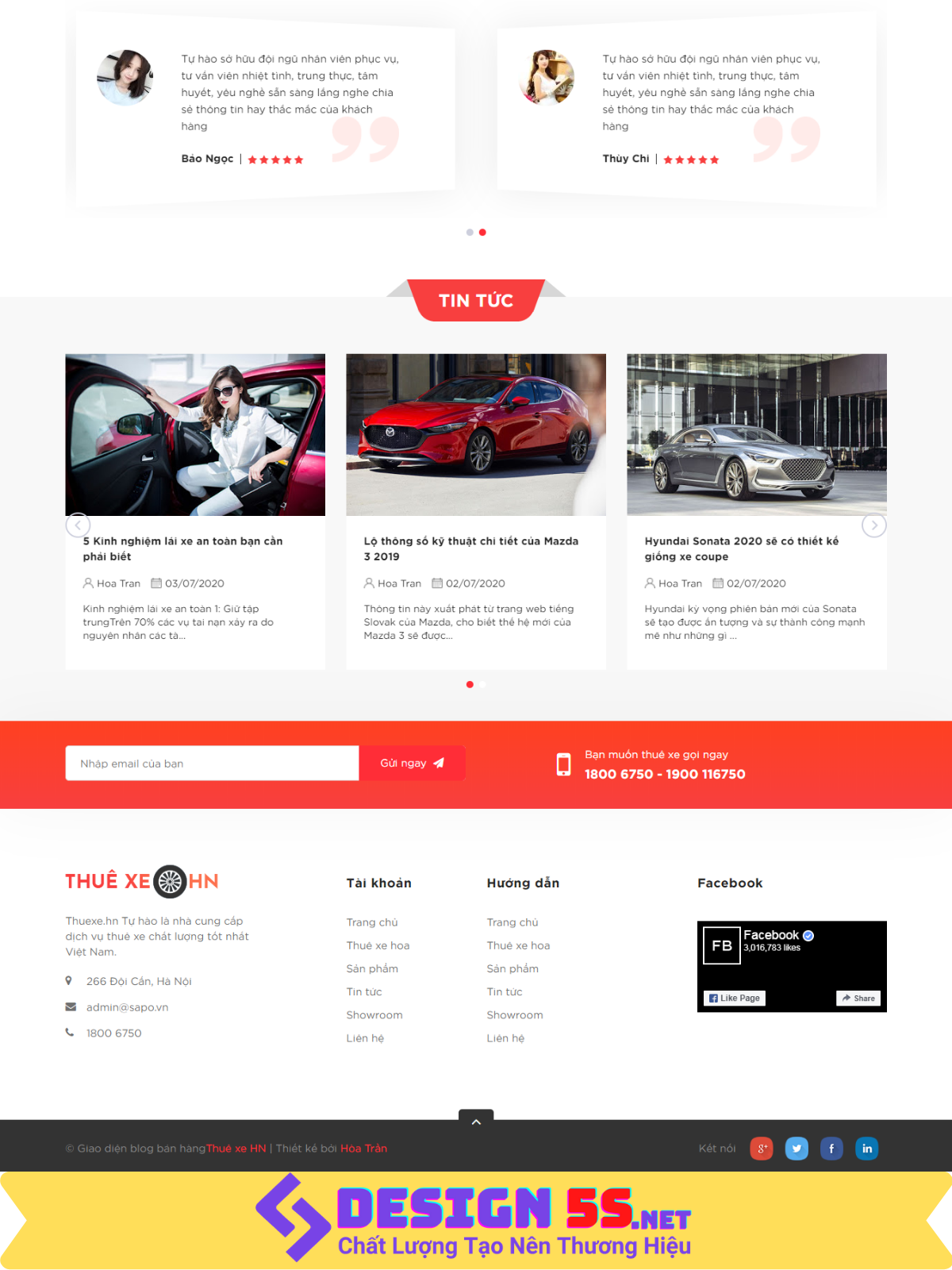 Theme blogspot dịch vụ cho thuê xe, đẹp chuẩn SEO VSM52 - Ảnh 2
