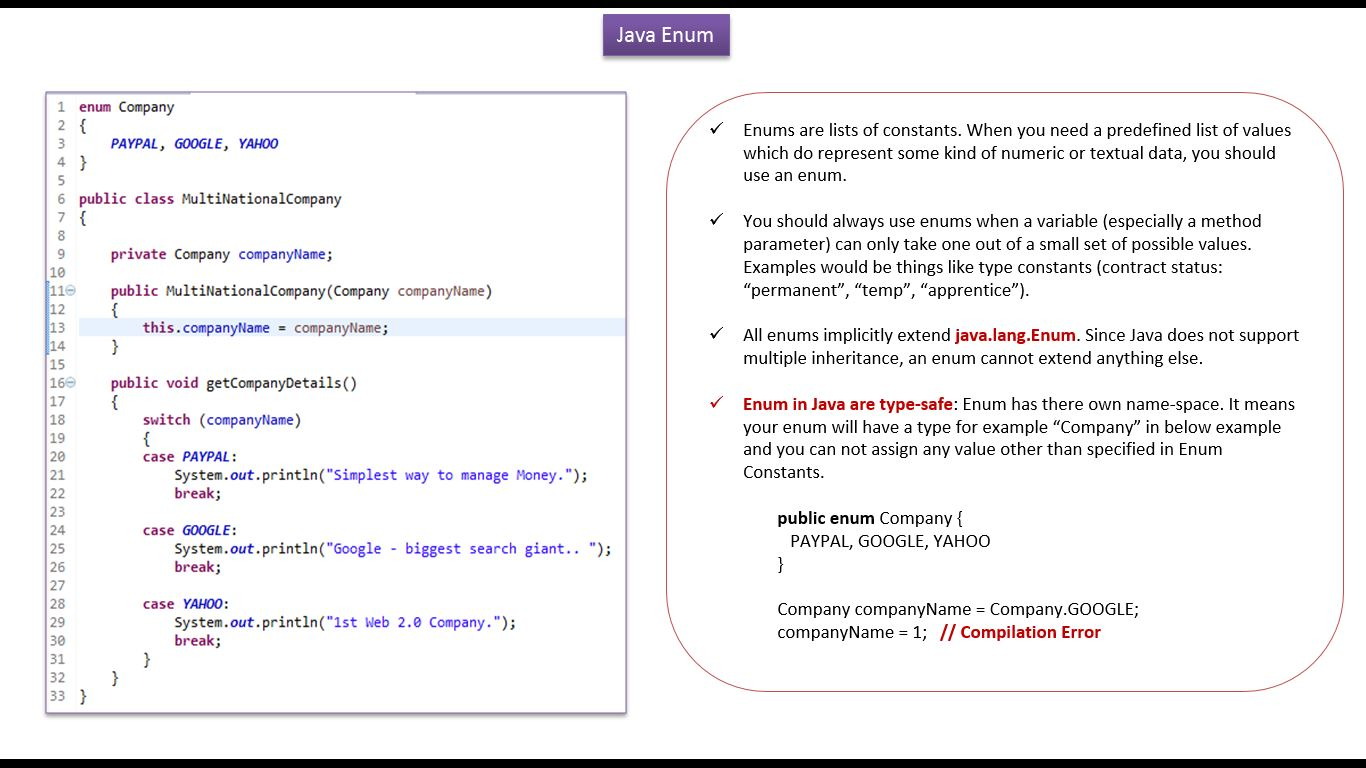 Oracle java tutorial pdf download choice image any tutorial examples enum java tutorial images any tutorial examples java ee java tutorial enum in java java enum baditri Images