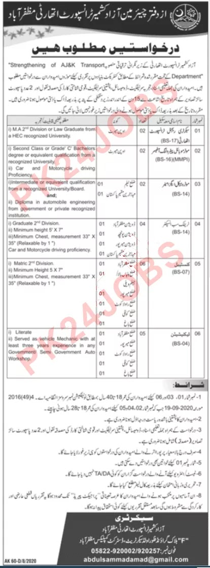 ngo jobs in muzaffarabad, jobs in muzaffarabad,