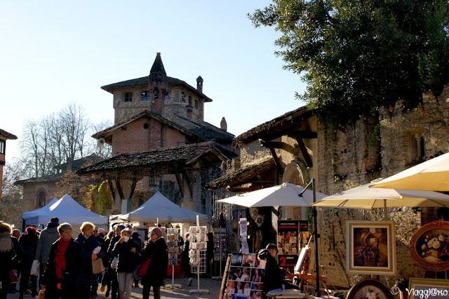 I mercatini di Natale allestiti a Grazzano Visconti