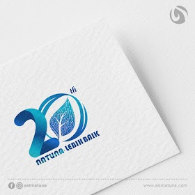 Desain Logo HUT Natuna 20 Tahun