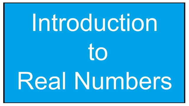 Introduction of real number in hindi