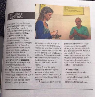 saímos no jornal O Globo