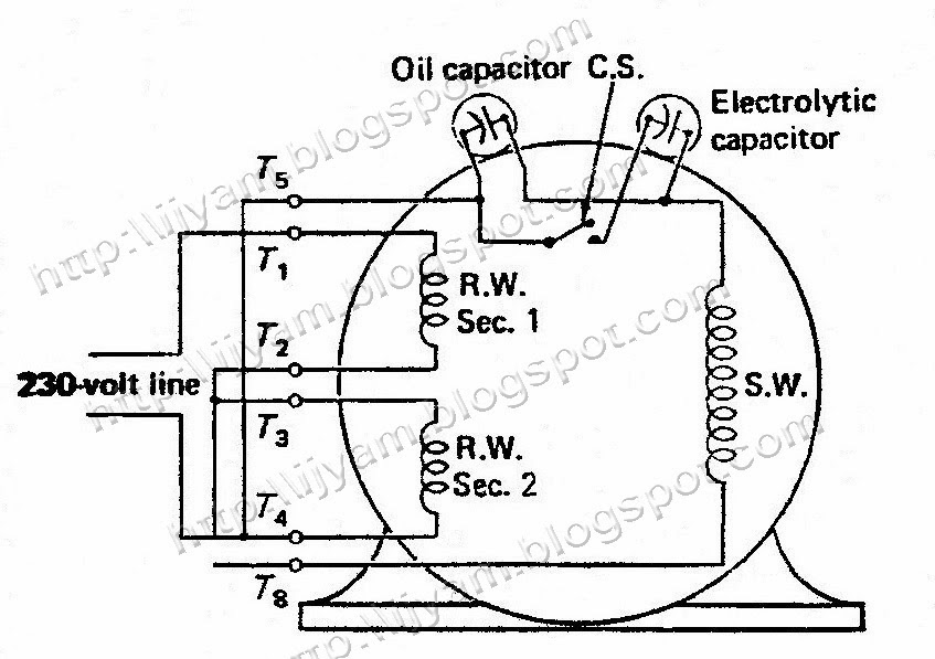 Electrical Control Circuit Schematic Diagram of TwoValue Capacitor Motor | Technovation