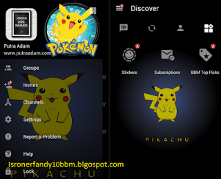 bbm modifikasi tema pokemon pikachu