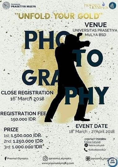 Lomba Fotografi dan Film Pendek Prasmul Olympics 2018