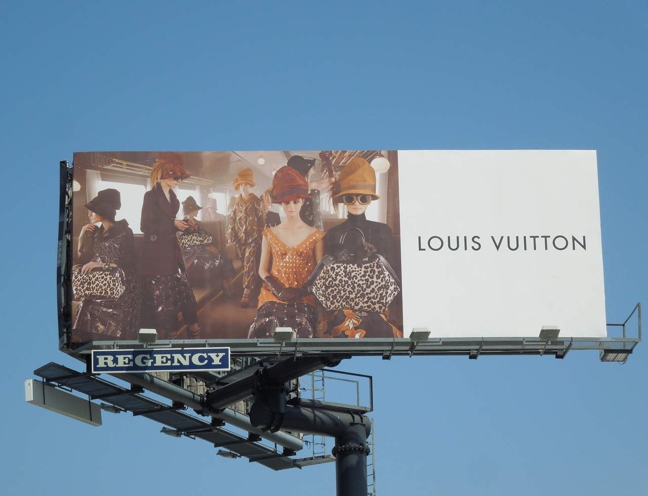 Louis Vuitton F/W 2012 train carriage billboard