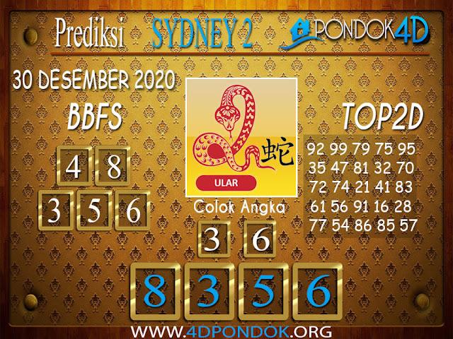 Prediksi Togel SYDNEY2 PONDOK4D 30 DESEMBER 2020
