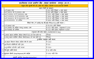 cg bank service charges