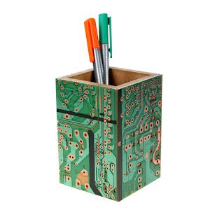 porta lápices con placas base