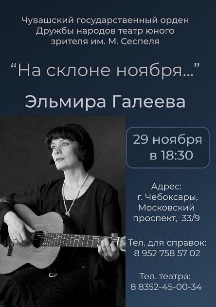 Концерт Эльмиры Галеевой  «На склоне ноября»