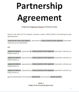 Exemples samples partnership agreement doc and pdf for Silent partner contract template