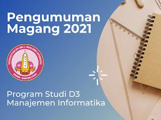 PENGUMUMAN MAGANG TAHUN 2021 PRODI MI