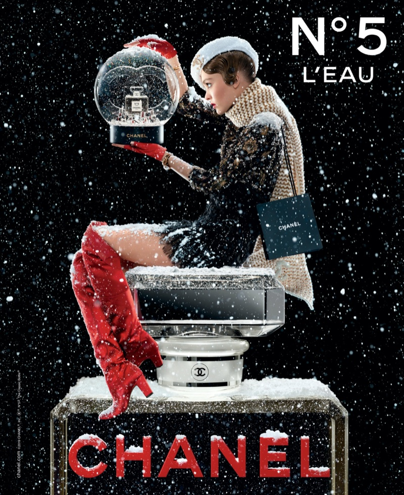 Lily Rose Depp brings festivity to the Chanel No. 5 Holiday 2019 Campaign
