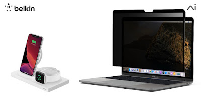 """Belkin เปิดตัวฟิล์มกระจกปกป้องหน้าจอพร้อม """"ปกป้องความเป็นส่วนตัว"""" และที่ชาร์จไร้สายแบบพกพาสำหรับอุปกรณ์ต่างๆ ของ Apple"""