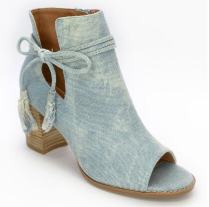 Madison and Mallory ALANA TASSELED PEEP TOE BOOTIE