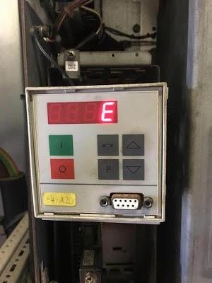 Error E to be displayed on a PMU