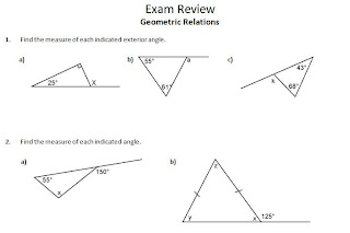ins'Pi're math: MPM1D Exam Review 3: Geometric Relations