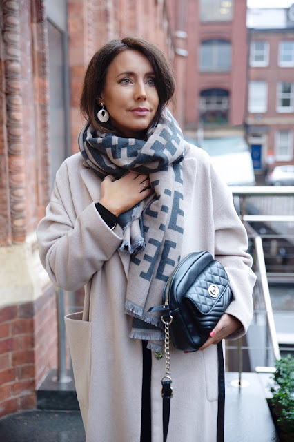 Woman in cost winter scarf