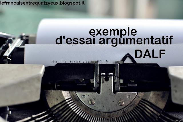 exemple essai argumentatif french dalf c1