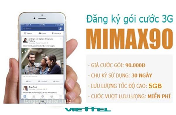 Cách đăng ký gói cước max90 mạng Viettel