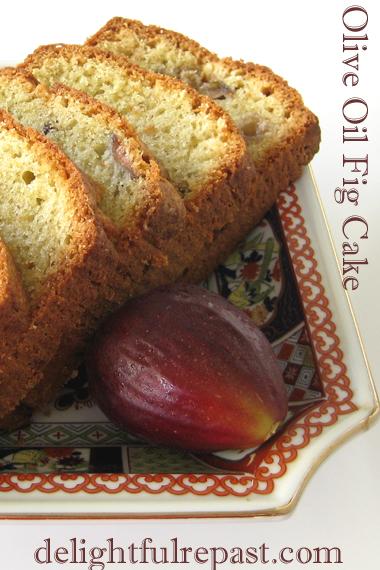 Olive Oil Fig Cake - Easy Loaf or Bundt Cake / www.delightfulrepast.com
