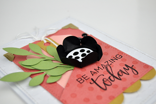 """""""Be Amazing"""" Flower Pocket Card by Jen Gallacher for www.jengallacher.com. #jengallacher #jenscards #cardmaker #echoparkpaper #diecutting #stamping #embossing"""