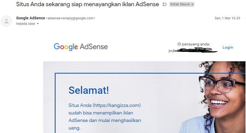 blog diterima google adsense