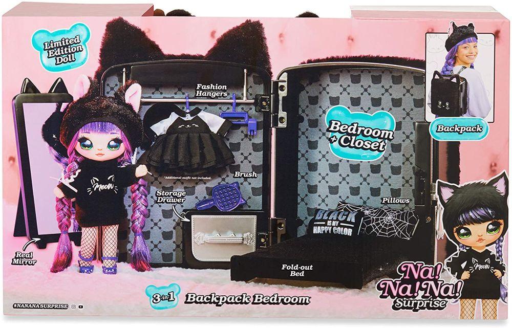 Рюкзак спальня шкаф с мягкой куклой Tuesday Meow Nanana Surprise