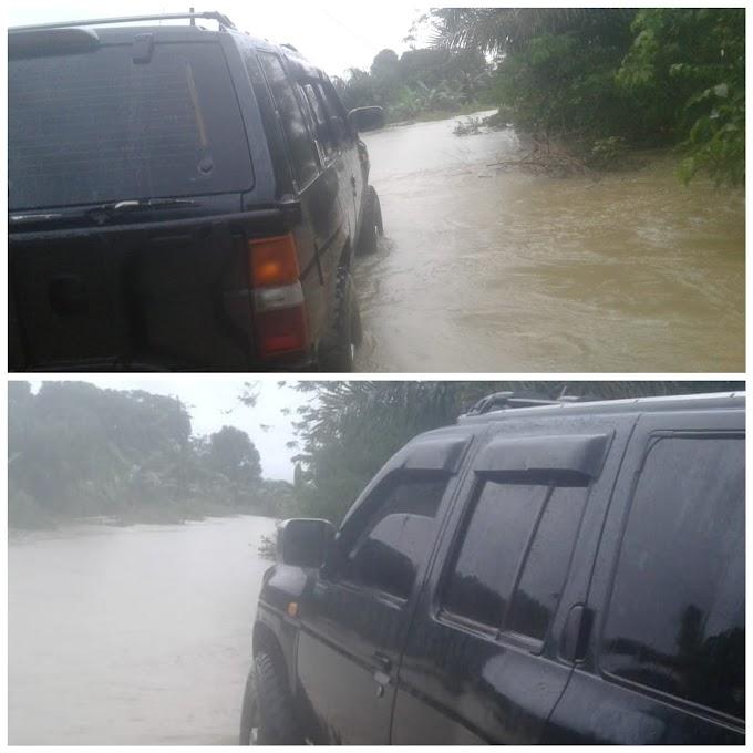 Banjir di Desa Sela Selilau BPBD Tanah Bumbu Cek Lokasi