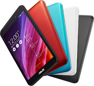 Asus Fonepad 7 FE375CXG Specifications - LAUNCH Announced 2014, September DISPLAY Type IPS LCD capacitive touchscreen, 16M colors Size 7.0 inches (~67.1% screen-to-body ratio) Resolution 800 x 1280 pixels (~216 ppi pixel density) Multitouch Yes, up to 10 fingers Protection Oleophobic coating BODY Dimensions 194.3 x 108.9 x 9.8 mm (7.65 x 4.29 x 0.39 in) Weight 299 g (10.55 oz SIM Single SIM (Micro-SIM) or Dual SIM (Micro-SIM, dual stand-by) PLATFORM OS Android OS, v4.4.2 (KitKat) CPU Quad-core 1.33 GHz Chipset Intel Atom Z3530 GPU PowerVR G6430 MEMORY Card slot microSD, up to 64 GB (dedicated slot) Internal 8/16 GB, 1 GB RAM CAMERA Primary 2 MP Secondary VGA Features Geo-tagging, touch focus, face detection Video 720p NETWORK Technology GSM / HSPA 2G bands GSM 850 / 900 / 1800 / 1900 - SIM 1 & SIM 2 (dual-SIM model only) 3G bands HSDPA 850 / 900 / 1900 / 2100 Speed HSPA 42.2/5.76 Mbps GPRS Yes EDGE Yes COMMS WLAN Wi-Fi 802.11 b/g/n, hotspot GPS Yes, with A-GPS, GLONASS USB microUSB v2.0, USB Host, USB OTG Radio No Bluetooth v4.0 FEATURES Sensors Accelerometer, proximity, compass Messaging SMS(threaded view), MMS, Email, Push Mail, IM Browser HTML5 Java No SOUND Alert types Vibration; MP3, WAV ringtones Loudspeaker Yes, with stereo speakers 3.5mm jack Yes BATTERY  Non-removable Li-Po battery (15 Wh) Stand-by Up to 316 h (3G) Talk time Up to 11 h 30 min (multimedia) (2G) / Up to 21 h (3G) Music play  MISC Colors Black, White, Red, Gold Features - MP3/WAV/WMA/AAC player - MP4/H.264 player - Document viewer - Photo viewer/editor - Voice memo/dial