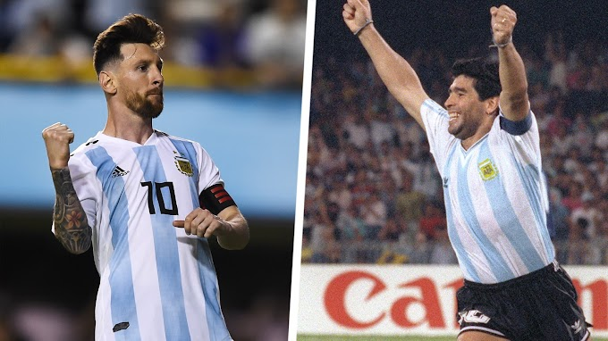 Maradona: Messi is the best player today, but I hope Napoli beat Barcelona