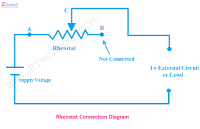 rheostat connection diagram, connection of rheostat