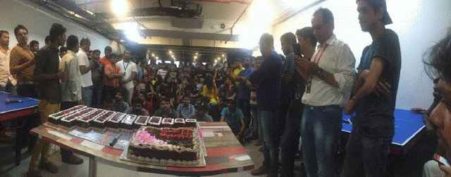 Redchillies Office Celebration Cake, Redchillies New Office In Mumbai, New Picture Of Inauguration