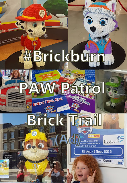 Collage showing some of the PAW Patrol models Marshall Everest Rumble Fire Truck