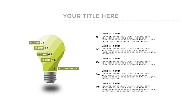 Free Infographic Puzzle Diagrams PowerPoint Template with Light Bulb