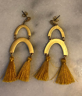 Olivia yellow earrings