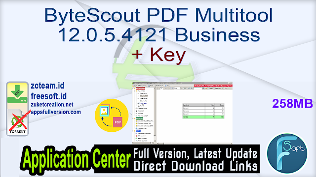 ByteScout PDF Multitool 12.0.5.4121 Business + Key_ ZcTeam.id