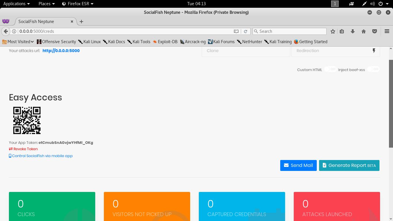 SocialFish V3 -- Next Genaration Phishing Toolkit | Kali