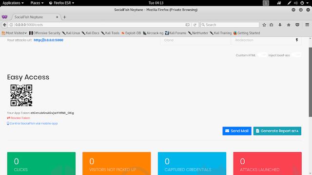 socialfish portal phishing kali linux