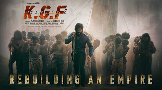 KGF Chapter 2 First Look Poster Yash in Hindi