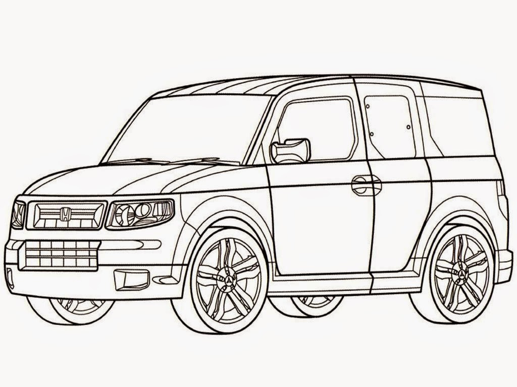 Realistic Car Printable Coloring Pages