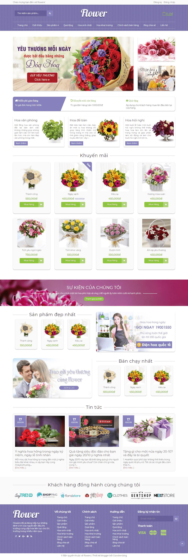 Template blogspot shop bán hoa