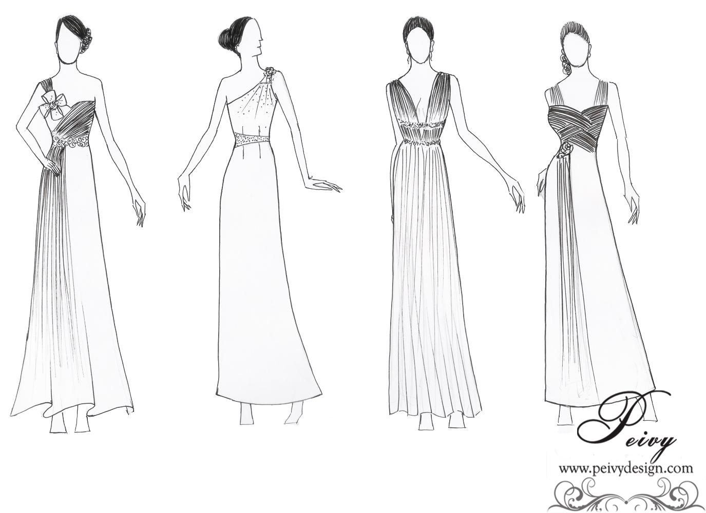 Kumpulan Gambar Sketsa Baju Desainer