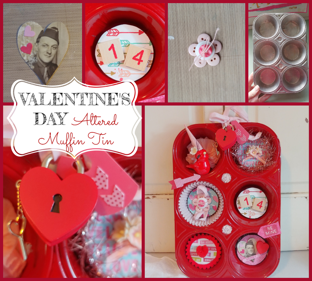 Altered Valentine's Day Muffin Tin