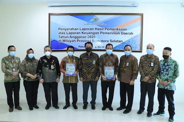 Tercepat Se-Indonesia Serahkan LKPD dan Terima LHP LKPD TA 2020, Prabumulih Raih WTP KE 8 Berturut-Turut